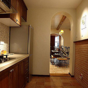 地中海风格厨房装修背景墙图
