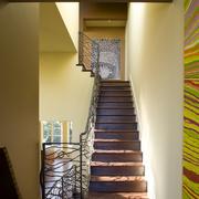 室内楼梯设计背景墙图