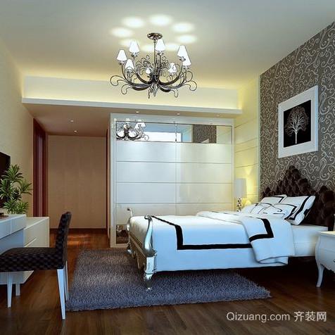 小户型卧室背景墙装修效果图