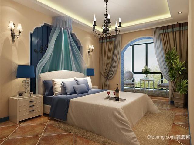 静谧优雅的地中海风格卧室装修效果图