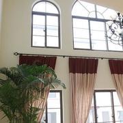 客厅窗帘装修整体图
