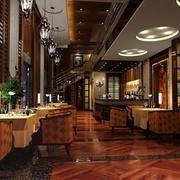 地中海风格咖啡厅装修地板图