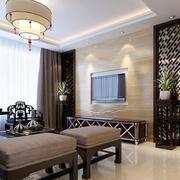 中式家装电视背景墙整体图