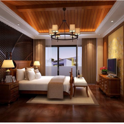 东南亚风格卧室壁纸装修色调搭配
