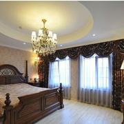 北欧风格卧室壁纸装修飘窗图