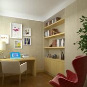 简约风格小书房装修背景墙图