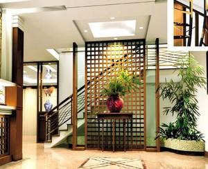 100平米家居室内绿色盆栽装饰效果图