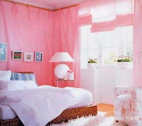 50平米小女生可爱温馨卧室装修效果图
