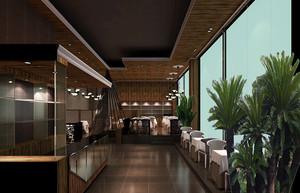 地中海风格咖啡厅装修效果图