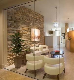 办公室绿化室内盆栽装修设计效果图