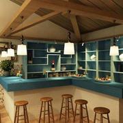 小厨房吧台装修色调搭配