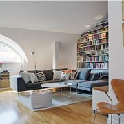 单身公寓装修客厅图
