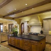 美式风格厨房装修灯光设计