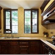 美式田园风格厨房装修飘窗图