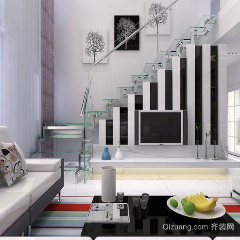 美观大方的现代简约风格室内楼梯设计图片大全