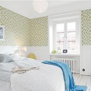 北欧风格卧室壁纸装修整体图