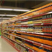 超市货架实景图
