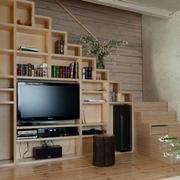 跃层式住宅客厅楼梯装修造型图