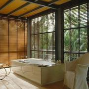 浴室百叶窗帘装修飘窗图