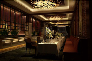 全新东南亚风格厨房餐厅隔断效果图