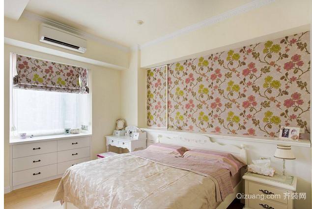 自然浪漫田园风格卧室装修效果图