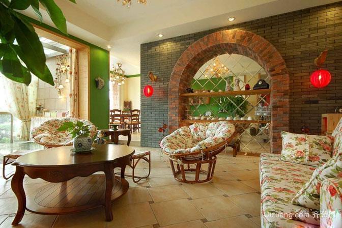 朴素的乡村风格别墅客厅装修效果图欣赏