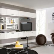 电视墙置物架装修灯光设计