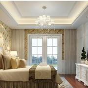欧式风格卧室壁纸装修效果图
