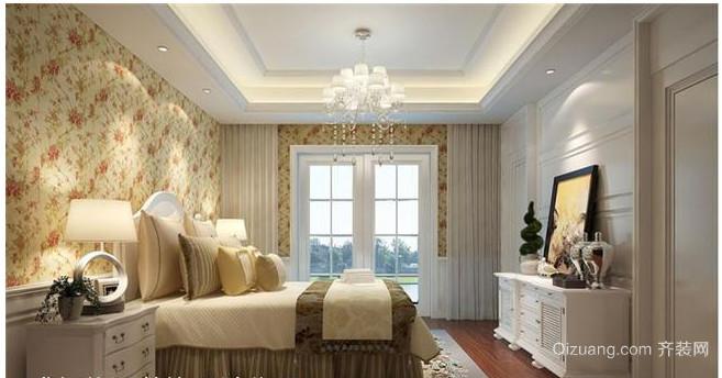 欧式别墅卧室壁纸装修效果图