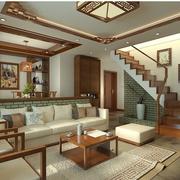中式风格楼梯设计效果图