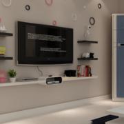 电视墙置物架装修造型图