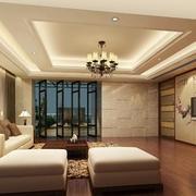中式家装电视背景墙灯光设计