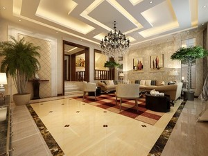 金碧辉煌的巴洛克风格别墅客厅装修效果图欣赏