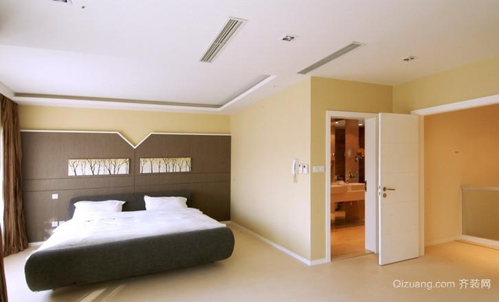 潮流时尚的现代风格卧室背景墙装修图片鉴赏