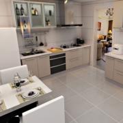 厨房欧派橱柜装修地板图
