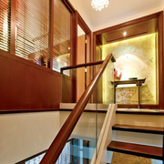 中式风格楼梯设计色调搭配