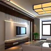中式家装电视背景墙造型图