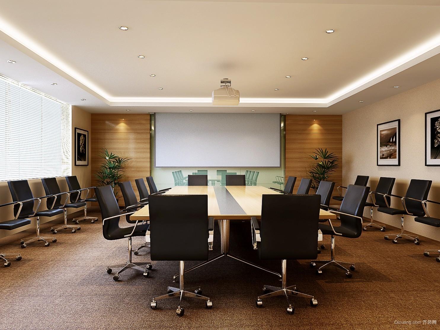 简洁明亮的公司总经理办公室装修效果图