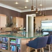 美式风格厨房装修吊灯图
