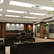 办公室室内盆栽装修背景墙
