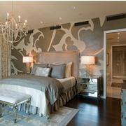 北欧风格卧室壁纸装修隔断图