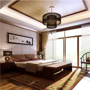 中式风格榻榻米床装修整体图