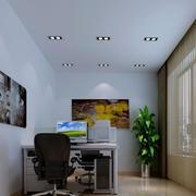 办公室室内盆栽装修飘窗图