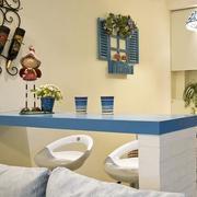 小厨房吧台装修背景墙图