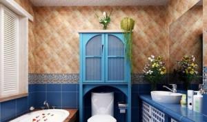 地中海别墅厕所装修效果图