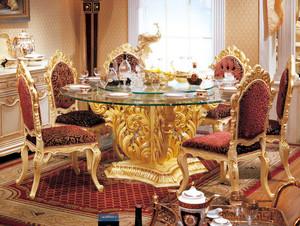 法式优雅折叠式实木餐桌