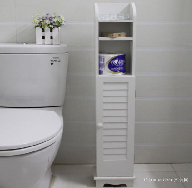 现代简约风格洗手间置物架装修效果图
