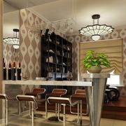 客厅吧台装修灯光设计