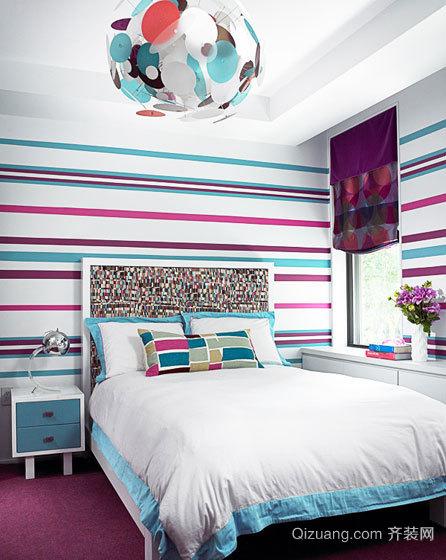 经典卧室墙纸装修风格效果图