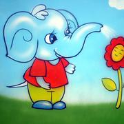 幼儿园手绘墙装修唯美图